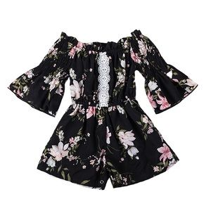 Baby Girl Floral Romper - Brand New
